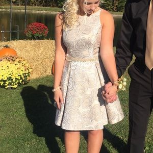 Dresses & Skirts - gold and silver hoco dress!
